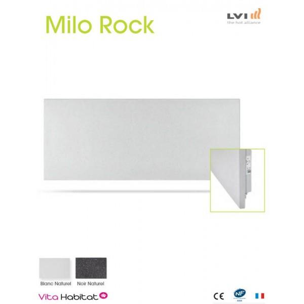 radiateur electrique milo rock blanc naturel 950w. Black Bedroom Furniture Sets. Home Design Ideas