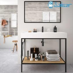 Meuble de salle de bains VINCI 1000 avec vasque Veneto Chêne africain - SALGAR 26429
