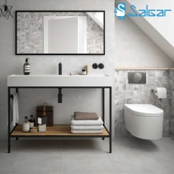 Meuble de salle de bains VINCI 1200 avec vasque Veneto Chêne africain - SALGAR 26430