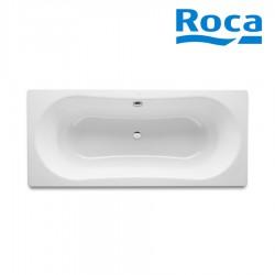 Baignoire acier émaillé avec fond antidérapant 1800X800 Blanc Duo Plus - ROCA A221670000