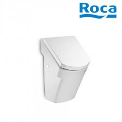 Urinoir encastré en porcelaine avec alimentation par l'arrière et abattant Blanc HALL - ROCA A35362E000