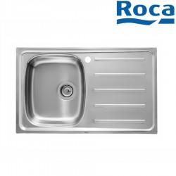 Évier pour installation sur meuble de 500 mm de large bac à gauche inox - ROCA A870H30801
