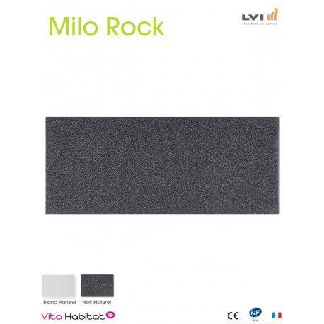 Radiateur electrique MILO Rock Noir 1430W Horizontal - LVI 2050181
