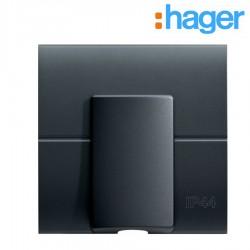 Sortie de câble étanche IP44 Carbone ESSENSYA - HAGER WE154C