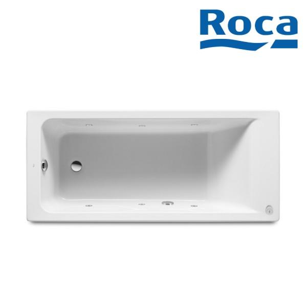 Baignoire Acrylique Rectangulaire Avec Systeme De Balneo Tonic Blanc Easy Roca A248157001 Vita Habitat