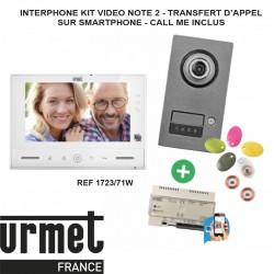 Interphone video URMET KIT NOTE 2 contrôle d'accès - 1723/71W