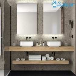 Plan de toilette chêne africain COMPAKT 46 - SALGAR 26004