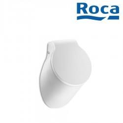 Urinoir en porcelaine avec alimentation encastrée par l'arrière et abattant blanc SPUN - ROCA A353148000