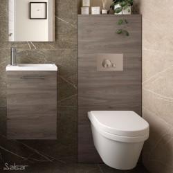 Habillage Bati-Support pour WC suspendu Chêne Eternity NOJA - SALGAR 87801