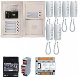 Pack audio 6 BP avec 6 postes GT1D programmés GTBA6E - Aiphone 200377