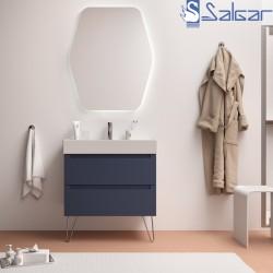 Meuble salle de bain 2 tiroirs métallique Night Blue MONTERREY -SALGAR- 81727