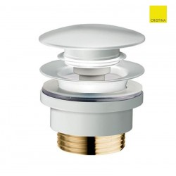Bonde lavabo Up&Down Laiton blanc 5-55 mm - Cristina Ondyna UD42524