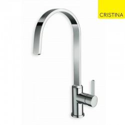 Mitigeur évier bec plat UNIC lame d'eau Chrome - CRISTINA ONDYNA KK52551