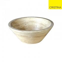 Vasque conique en pierre D.42 H.15.5 CM Sable - CRISTINA ONDYNA UR1005