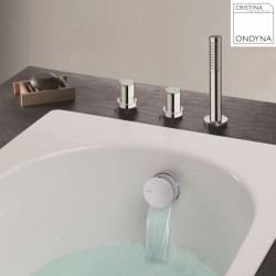 Pack confort bain douche thermostatique sur gorge TRIVERDE - CRISTINA ONDYNA XE1420
