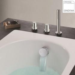 Pack confort bain douche thermostatique sur gorge TRIVERDE - CRISTINA ONDYNA XE1420