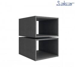 Ensemble 2 cubes intérieurs Charbon-TX pour coquette ALLIANCE - SALGAR 23345
