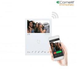 Moniteur mini mains libres wi-fi - Comelit 6741W/BM