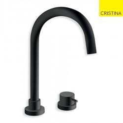 Mitigeur lavabo 2 trous Blackmat TRIVERDE - CRISTINA ONDYNA TV22413