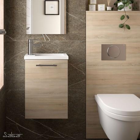 Meuble lave-mains et vasque Chêne Calédonie - MICRO - SALGAR - 22899