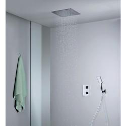 Pack encastré douche thermostatique plafond classique QUADRI - CRISTINA ONDYNA XQD852P
