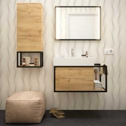 Meuble de salle de bain Chêne Africain VINCI - SALGAR - 25760