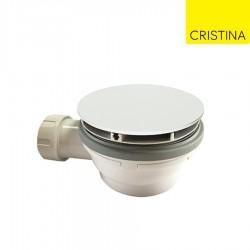 Bonde de douche couvercle extra plat WHITE MAT - CRISTINA ONDYNA AD45524