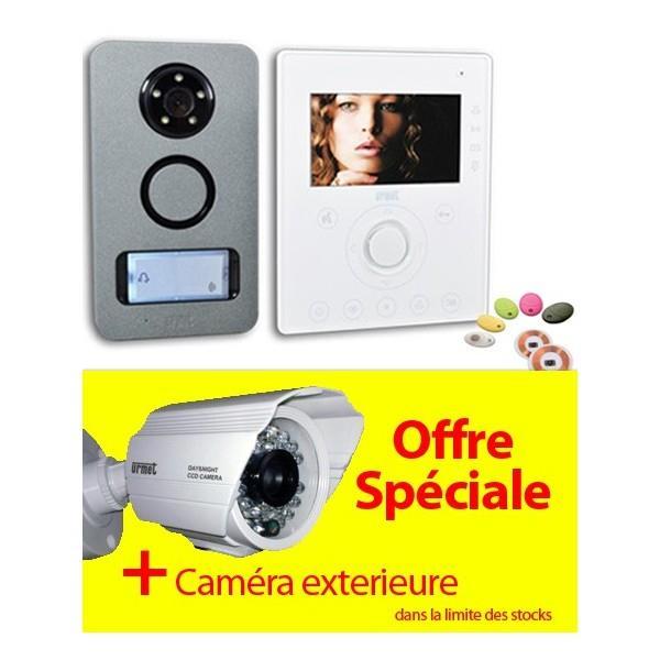 Offre urmet kit note camera interphone vid o mains libre et contr le d 3 - Interphone video urmet ...