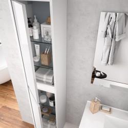 Colonne de salle de bain NOJA Blanc Brillant - SALGAR 85175