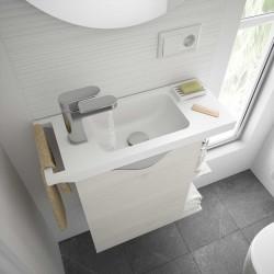 Plan vasque MARTHA 555 solid surface blanc mat - SALGAR 24785