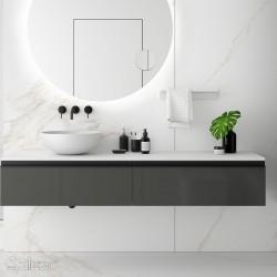 Plan de toilette solid blanc 1401-1800 - SALGAR 24462