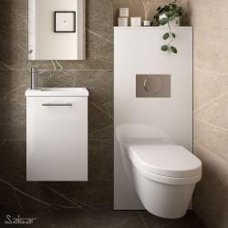 Habillage Bati-Support pour WC suspendu Blanc Brillant NOJA - SALGAR 87798