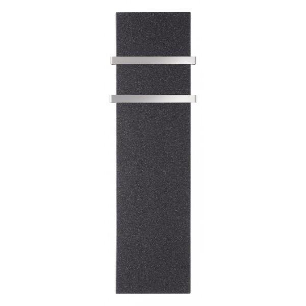 S che serviettes lectrique lvi milo rock noir 1000w avec barres vita habitat - Radiateur seche serviette noir ...