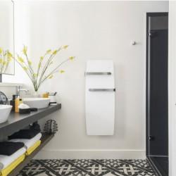 Sèche-serviettes électrique chaleur douce soufflant ETIC Bains 1500W(700W+800W) Blanc NOIROT - NEK2455SEEC