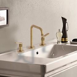 Mélangeur lavabo 3 trous Or Brossé EAST SIDE - CRISTINA ONDYNA ES20496P