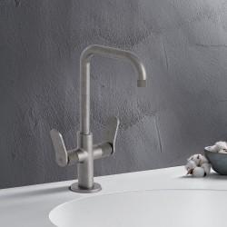 Mélangeur lavabo monotrou Métal Brossé EAST SIDE - CRISTINA ONDYNA ES22677