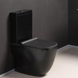 Bloc WC monobloc complet avec réservoir bas et abattant WILD BLACKMAT - CRISTINA ONDYNA WWL301313
