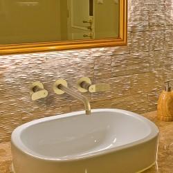 Mélangeur lavabo 3 trous OR Brossé EAST SIDE - CRISTINA ONDYNA ES24396P