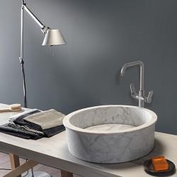 Mélangeur de lavabo haut Métal Brossé EAST SIDE - CRISTINA ONDYNA ES24877