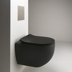 WC suspendu Blackmat avec abattant CIOTOLA - CRISTINA ONDYNA WCI319113
