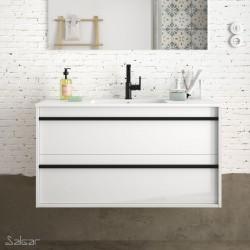 Ensemble meuble de salle de bain Blanc Brillant avec vasque 1000 ATTILA- SALGAR 84949