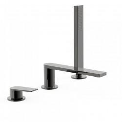 Mitigeur bain d'étagère Noir métallisé - TRES 21116101KM