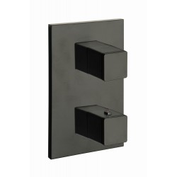 Façade thermostatique murale 2 sorties BLACKMAT QUADRI - CRISTINA ONDYNA XQ85213