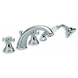 Bain douche avec mélangeur sur gorge 4 trous chromé CHAMBORD - CRISTINA ONDYNA CH10451 Bain douche avec mélangeur sur gorge 4 tr