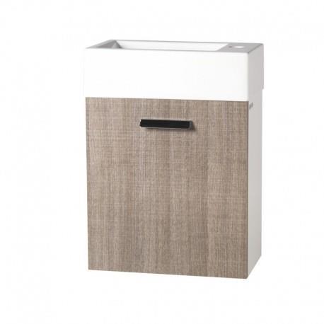 Meuble Lave-mains rectangulaire à suspendre - mini 25/45/60 BEIGE ouverture droite - CRISTINA ONDYNA  MS5251C