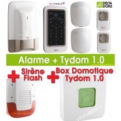 Pack Alarme / Domotique TYXAL PLUS  avec Tydom 1.0 et sirène extérieure Delta Dore - 6410176 + 6700103