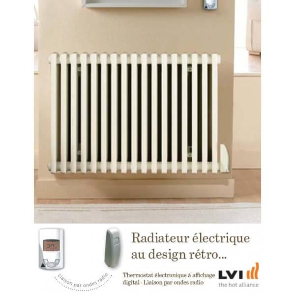 Radiateur lvi epok h 750w fluide horizontal 3630607 vita - Radiateur electrique 750w ...