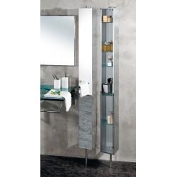 Armoire de salle de bain Inox tournante avec Miroir - CRISTINA ONDYNA  PK51506