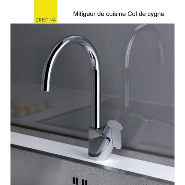 Mitigeur Cuisine Bec Haut Col De Cygne Chrome New Day Cristina Ondyna Kn52651
