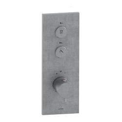 Facade Thermo Up Verticale Thermostatique 2 Sorties Triverde Inox Robinetterie TRIVERDE - CRISTINA ONDYNA XT72228 Facade Thermo